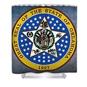 The Great Seal Of The State Of Oklahoma Shower Curtain