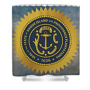 The Great Seal Of The State Of Rhode Island Shower Curtain