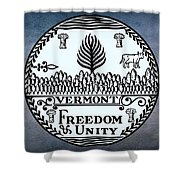 The Great Seal Of The State Of Vermont Shower Curtain