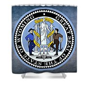 The Great Seal Of The State Of Wyoming Shower Curtain