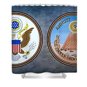 The Great Seal Of The United States Obverse And Reverse Shower Curtain
