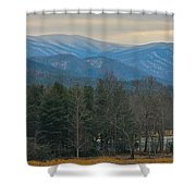 The Great Smoky Mountains From Cades Cove Shower Curtain