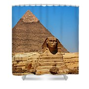 The Great Sphinx Of Giza And Pyramid Of Khafre Shower Curtain