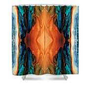 The Great Spirit - Abstract Art By Sharon Cummings Shower Curtain