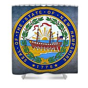 The Great Seal Of The State Of New Hampshire Shower Curtain