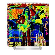 The Great Sun Jester Shower Curtain