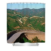 The Great Wall At Badaling In Beijing Shower Curtain