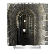 The Great Wall Of China At Badaling - 10 - Inside The Guardhouse  Shower Curtain