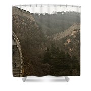 The Great Wall Of China At Badaling - 7  Shower Curtain