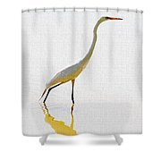 The Greater Egret With Style Shower Curtain
