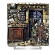 The Greek Cafe In Rome Shower Curtain
