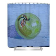 The Green Apple Shower Curtain