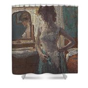 The Green Dress, 1908-09 Shower Curtain