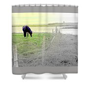 The Long Green Fields Back Home  Shower Curtain