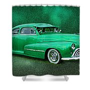 The Green Ghost Shower Curtain