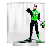 The Green Shower Curtain