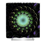 The Green Hole Shower Curtain