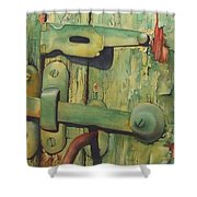 The Green Latch Shower Curtain