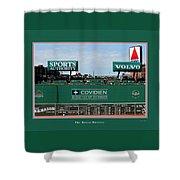 The Green Monster Fenway Park Shower Curtain by Tom Prendergast