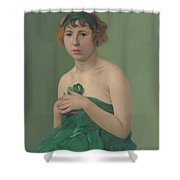 The Green Ribbon Shower Curtain