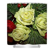The Green Roses Of Winter Shower Curtain