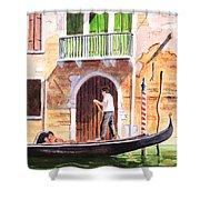 The Green Shutters - Venice Shower Curtain