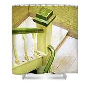 The Green Stairwell Shower Curtain