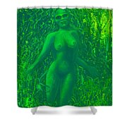 The Green Wood Nymph Calls Shower Curtain
