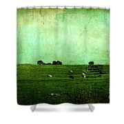 The Green Yonder Shower Curtain
