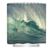 Surfing The Green Zone Shower Curtain