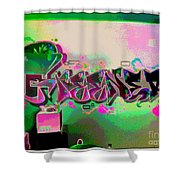The Greener Side Posterized Shower Curtain