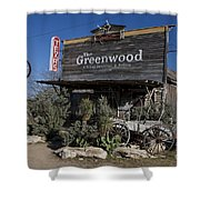 The Greenwood Dancehall And Saloon Bluff Dale Texas Shower Curtain