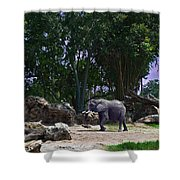 The Grey Beast Shower Curtain by Ryan Crane