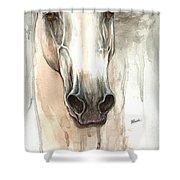 The Grey Horse Portrait 2014 02 10 Shower Curtain