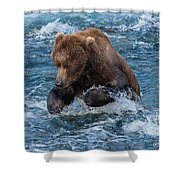 The Grizzly Plunge Shower Curtain