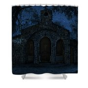 The Grotto By Moonlight Shower Curtain