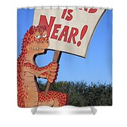 The Grouchy Prophet Shower Curtain