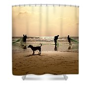 The Guardian Dog Shower Curtain