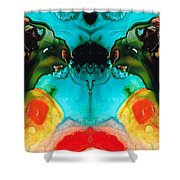 The Guardians - Visionary Art By Sharon Cummings Shower Curtain by Sharon Cummings