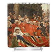 The Guards Cheer, 1898 Shower Curtain