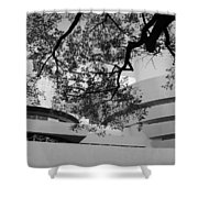 The Gugenheim In Black And White Shower Curtain