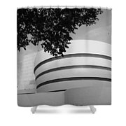 The Guggenheim Museum In Black And White Shower Curtain