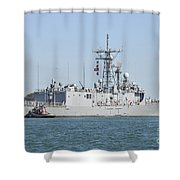 The Guided-missile Frigate Uss De Wert Shower Curtain