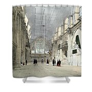 The Guildhall, Interior, From London As Shower Curtain