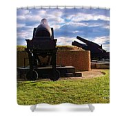 The Guns Of Fort Mc Henry Shower Curtain