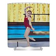 The Gymnast Shower Curtain