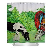 The Gypsies Shower Curtain
