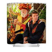 The Gypsy And The Minstrel Shower Curtain
