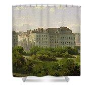 The Hamburg Kunsthalle And The Wallanlagen At The Glockengiesserwal Shower Curtain