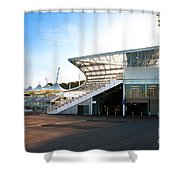The Hampshire County Cricket Club Pavilion Shower Curtain